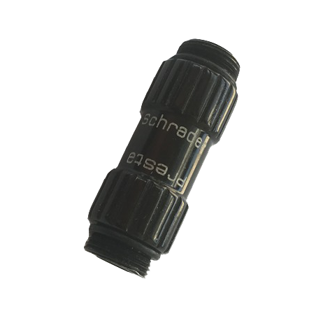 Screw-on intuitive connection, compatible with Presta and Schrader valves.